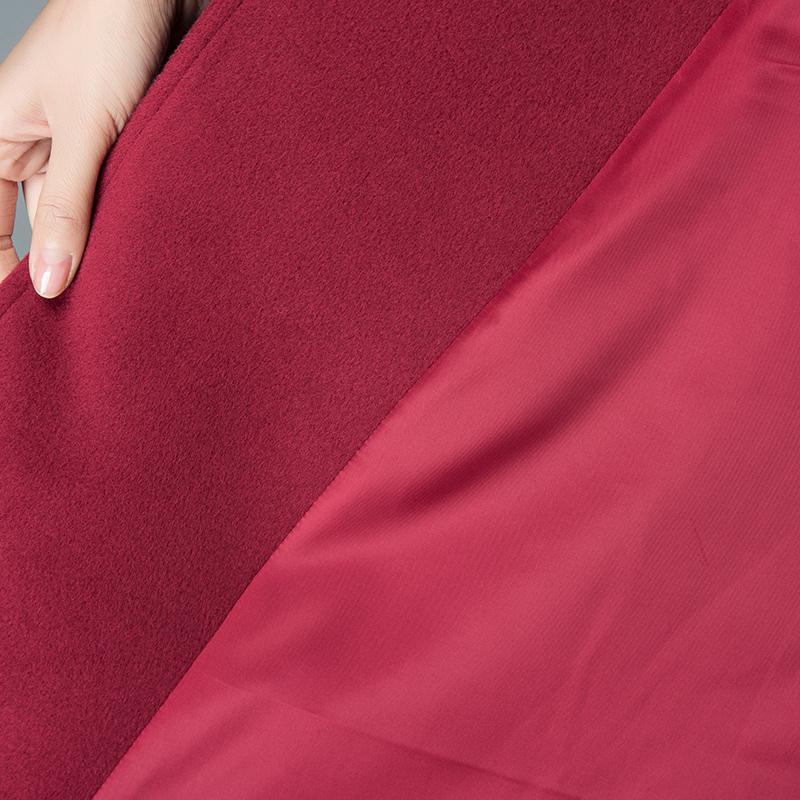 La Cachemire Laine Long pourpre Couleur Tranchée Mince Manteau bleu Pardessus Femmes Taille Solide 2017 rouge Plus Nouvelles Noir Hiver nYwHOtnq