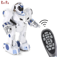 Smart Programmable Defender Intelligent Humanoid Robotic RC Remote Control Toy Dancing Deformation Robot For Kids Birthday Gift
