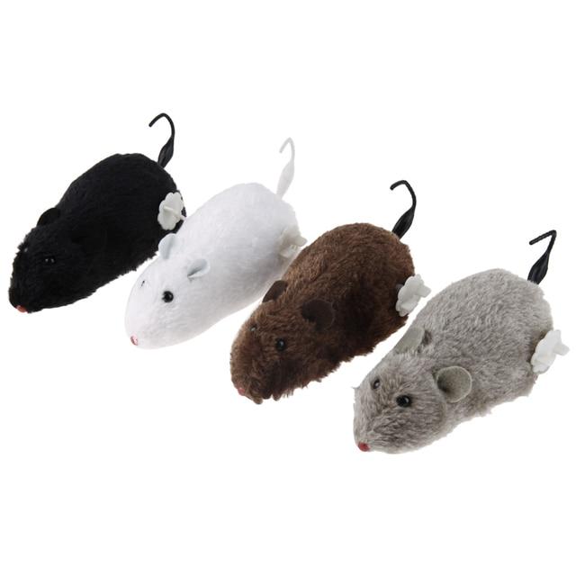 הוראות חדשות 4 יחידות צעצוע קטיפה חמוד חתול כלב מחמד עכברוש עכבר מכני מכאני PB-01