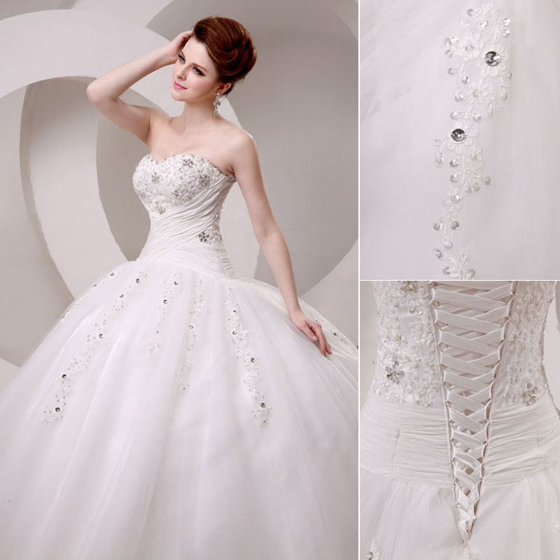 New Style Real Sample Floor Length Drop Waist Pleat Sequins Wedding ...