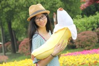 lovely banana plush toy 70cm soft throw pillow,birthday gift h628