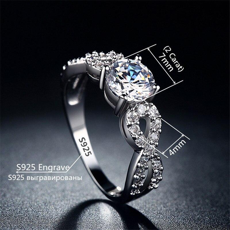 Modni vjenčani prstenovi za žene 585 Bijelo zlato u boji prepleteni - Modni nakit - Foto 2