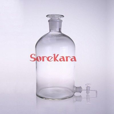 2500ml Glass Aspirator Bottle With Ground-in Stopper And Stopcock For Serving Wine Or Water adnart flavour it glass water bottle with fruit infuser