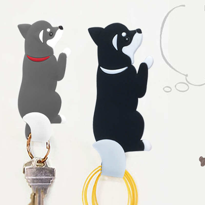 2 Pcs Dog Corgi  Funny Fridge Magnet Resin Refrigerator Stickers Gift Home Decor