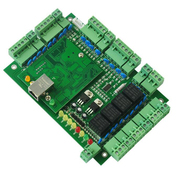 TCP/IP four Door access control,32-bit ARM CPU,support powerfull time Attendance / access / Web / access alarm function sn:T04