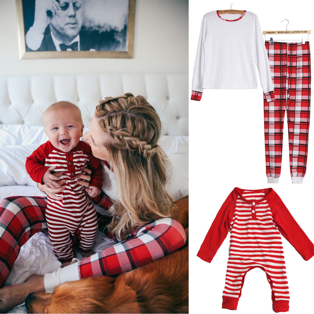 ce3b67922d91c US $4.05 7% OFF|pudcoco Newest Arrivals Hot Infant Newborn Toddler Family  Matching Christmas Pajamas Set Women Kids Baby Mom Sleepwear Nightwear-in  ...