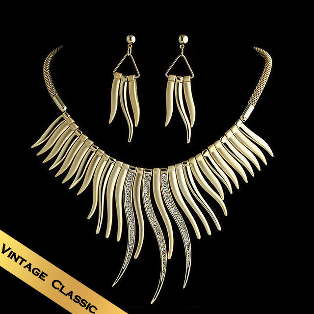 Special Necklaces & Stud Earrings Jewelry Sets Holiday Gift Free shipping Western Style Vintage Leisureliness Yearning TZ13A0291
