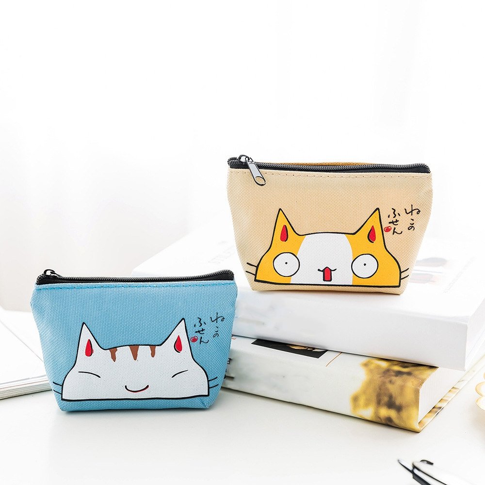 eTya Women Small Cute Coin Wallet Purse Ladies Kids Mini Animal Card Holder Key Zipper Wallet Case Bag Money Bags for Girls women 3 cute cat short wallet animal printing purse card holder coin bags