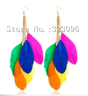 Wholesale 1000Pc Mixed Color! 3- 5cm Trimmed Goose Feathers, Colorful Feathers,Exotic Millinery Craft DIY Feathers For Accessory