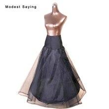 2017 High Quality 1 Hoop Black Slip Petticoat Underskirt For A Line font b Wedding b