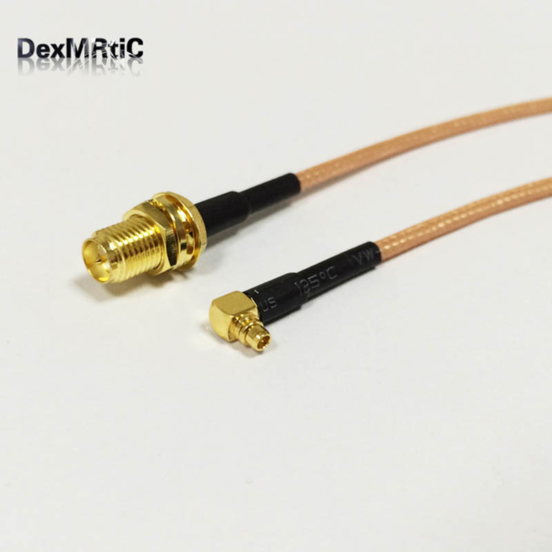 RF RP SMA  Female Switch MMCX Male Right Angle Pigtail Cable RG316 15CM 6 Wholesale Fast Ship allishop 10m rf coaxial cable sma to mmcx connector sma female to mmcx male right angle rg178 pigtail cable