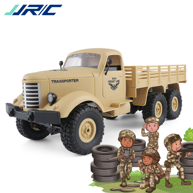 JJRC Q60 Q61 Remote Control Car 1:16 Military Truck 2.4G 6WD Tracked Off-Road Military RC Truck Kids Toys Gift Present