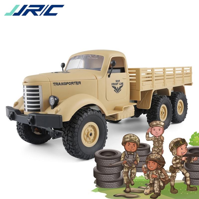 JJRC Q60 Q61 voitures rc 6WD 4WD Hors Route Voiture Militaire Camion Amortisseurs Vitesse Conversion Lumineux Spots télécommande De Voiture