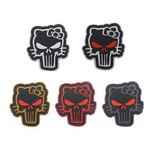 3D high quality PVC patches armband magic stickers K9 patch Kitty punisher Badges Dog paw