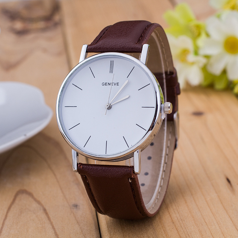 New Simple Design Unisex Watch Fashion Quartz Geneva Casual Women Watches Leather Analog WristWatches Men Watch Relogio Feminino new lvpai vintage women fashion quartz watch faux leather men dress watch unisex casual wristwatches wood grain watches clock