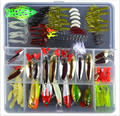 1 комплект  130 шт.  приманка для рыбалки + 1 шт.  коробка для рыболовных снастей разных размеров и цветов  металлический рыболовный крючок  бесп...