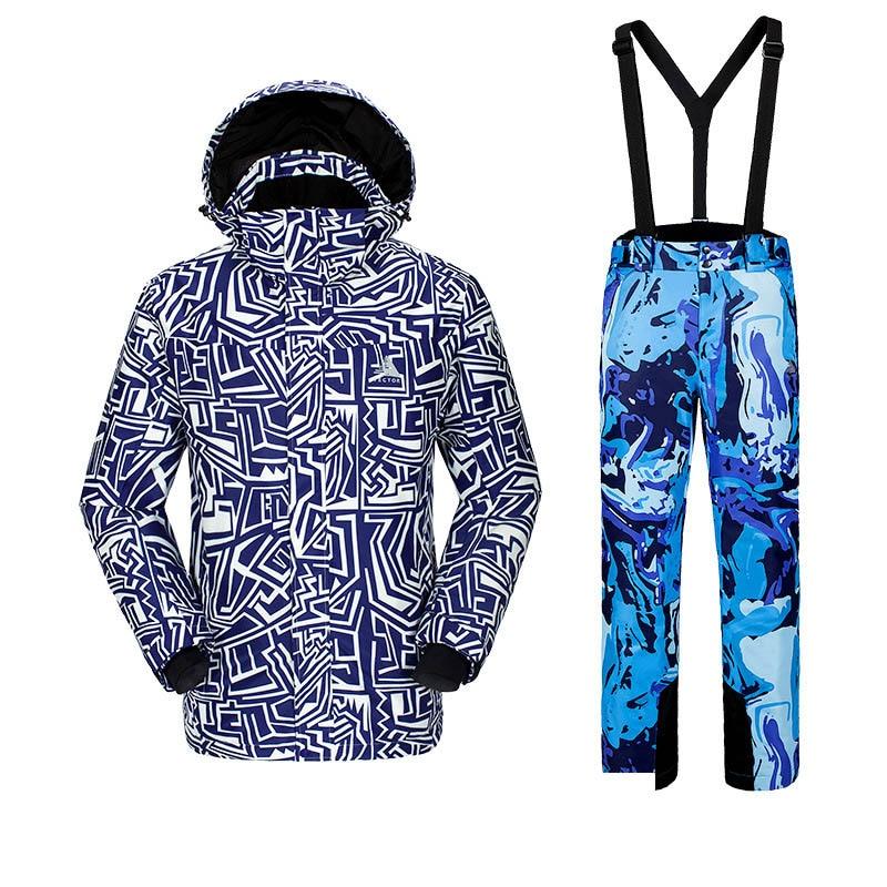 Новая мужская фанерная доска лыжный костюм, для спорта на открытом воздухе Лыжная одежда для альпинистов мужские лыжные штаны ветронепроницаемая Водонепроницаемая теплая одежда - Цвет: C5