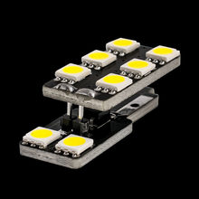 1pcs T10 W5W 8 led 5050 smd CANBUS NO ERROR AUTO DOOR LIGHTS PATHWAY LIGHTING READING LAMP Tail box LUGGAGE COMPARTMENT LIGHT(China)