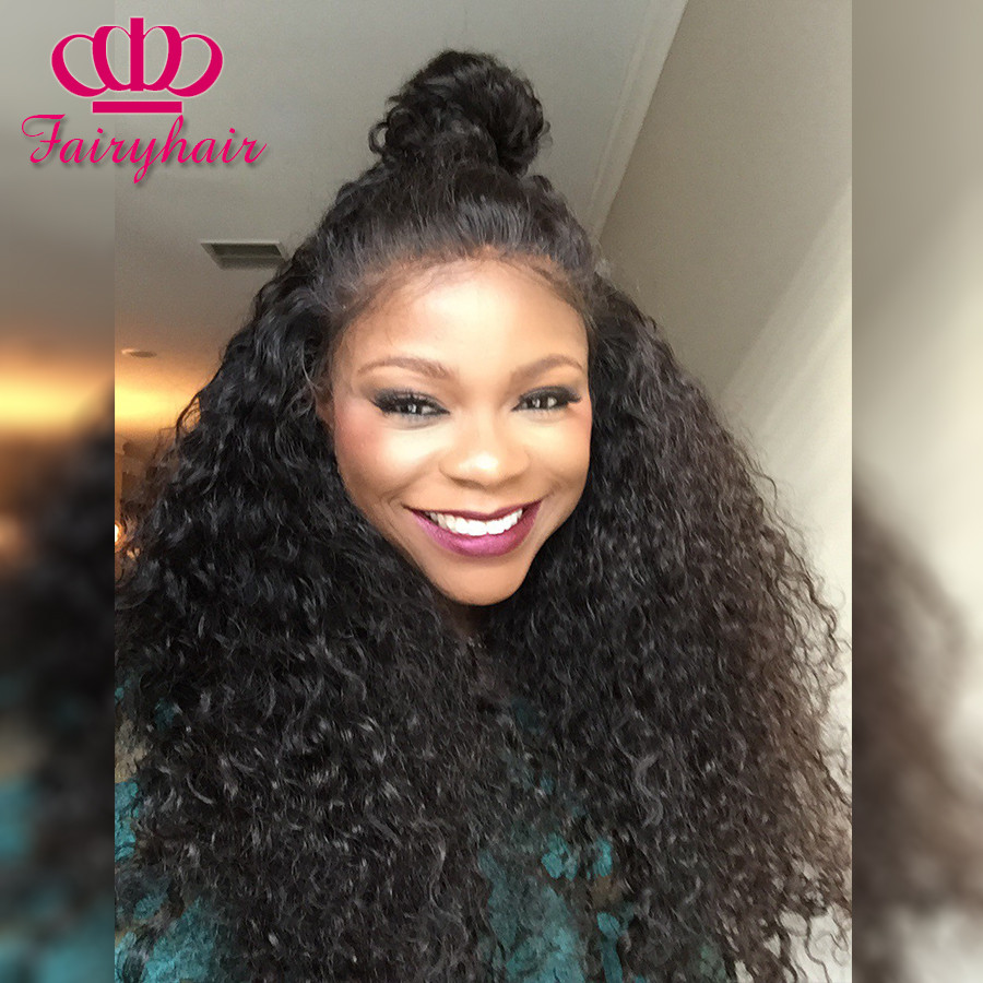 Lace Front loose curly Wigs Natural Baby Hair Synthetic Lace Front Wig Black Hair Glueless Wig Heat Resistant for Black Women2