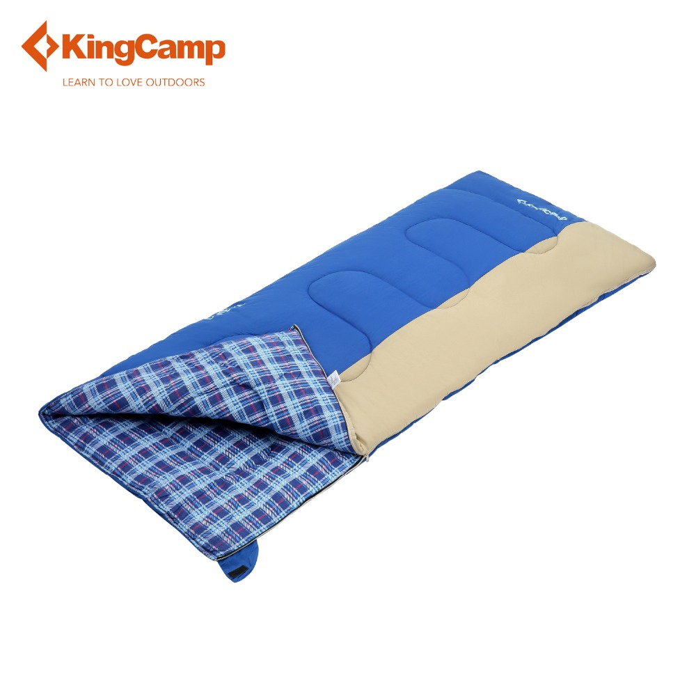 ФОТО KingCamp Comfort Envelope 10 Degree C/50 Degree F Flannel Lined Sleeping Bag for Camping Backpacking