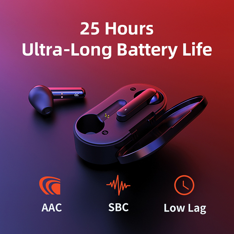 QCY T3 TWS Fingerprint Touch Wireless Headphones Bluetooth V5.0 3D Stereo Dual-Mic earphones Karachi