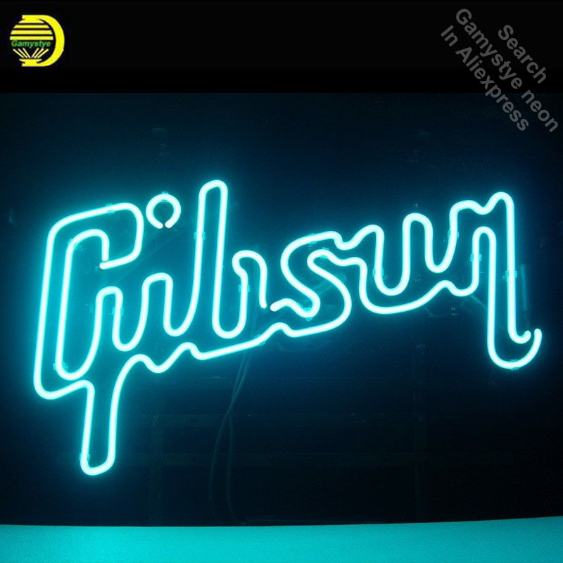 Neon Sign for Gibson Neon Light Sign Beer Pub Store Display Arcade signs handcraft Art Lamps Publicidad lamps 17x14 inch