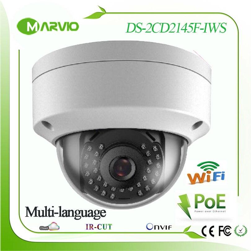 H 265 New 4MP Marvio wifi ip camera DS 2CD2145F I W S audio alarm 128G