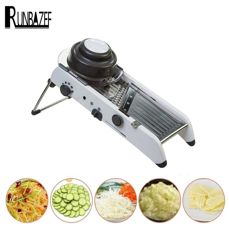 RUNBAZEF Manufacturer Mandoline Of New Multi function Slicer Fruit And Vegetable Grater Kitchen Gadget For Cooking