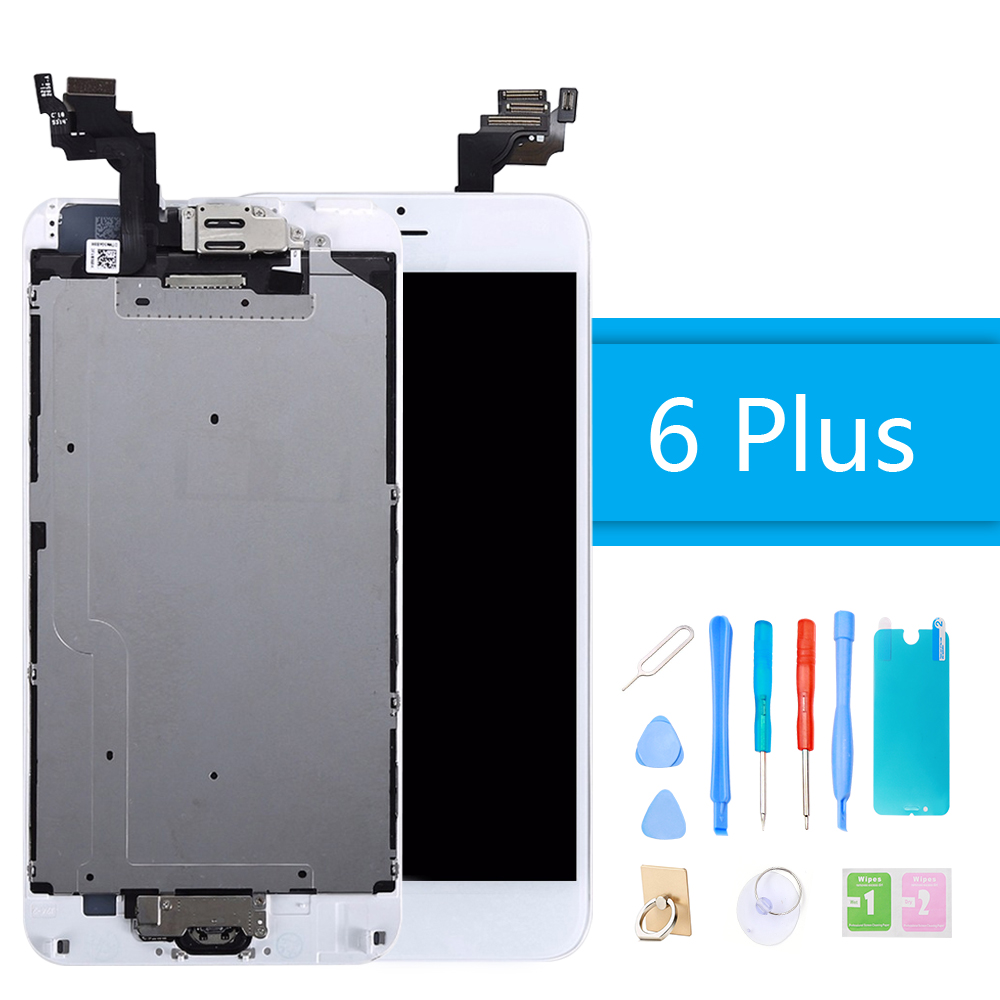 LCD Display Screen for iPhone 6 Plus LCD Digitizer Full Assembly Touch Screen Replacement With Home Button Camera + Repair Tools image