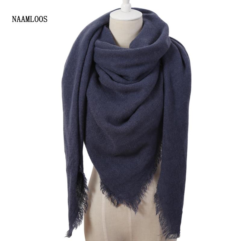 Mode chaude De Couleur Pleine D hiver Carré Écharpe Femmes Oversize  Couvertures De Luxe marque Châle Cachemire echarpe Cape Taille 140 cm x 140  cm 71dec514f54
