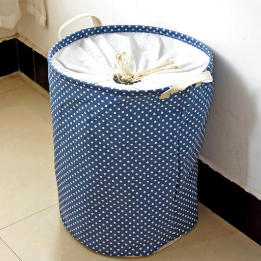 large size Zakka Handle Stackable Multi-function Waterproof Recycle Bin Storage Box Linen Toy collection Laundry basket 0580