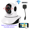 Беспроводной 720 P 1080 P HD WiFi Ip-камера Купольная Ик Ночного CCTV Onvif P2P Baby Monitor Audio SD Записи Температуры и влажности датчики
