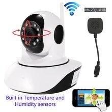 Wireless 720P HD IP Camera WiFi Dome IR Cut Night P2P Baby Monitor Audio SD Record WIFI CCTV Onvif Temperature humidity sensors