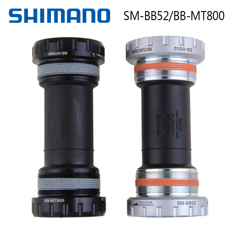 SHIMANO DEORE SM-BB52 BB-MT800 Hollow tech II Bottom Bracket Hollow Axis Thread axis  For XT MTB Mountain Bike Bicycle Part
