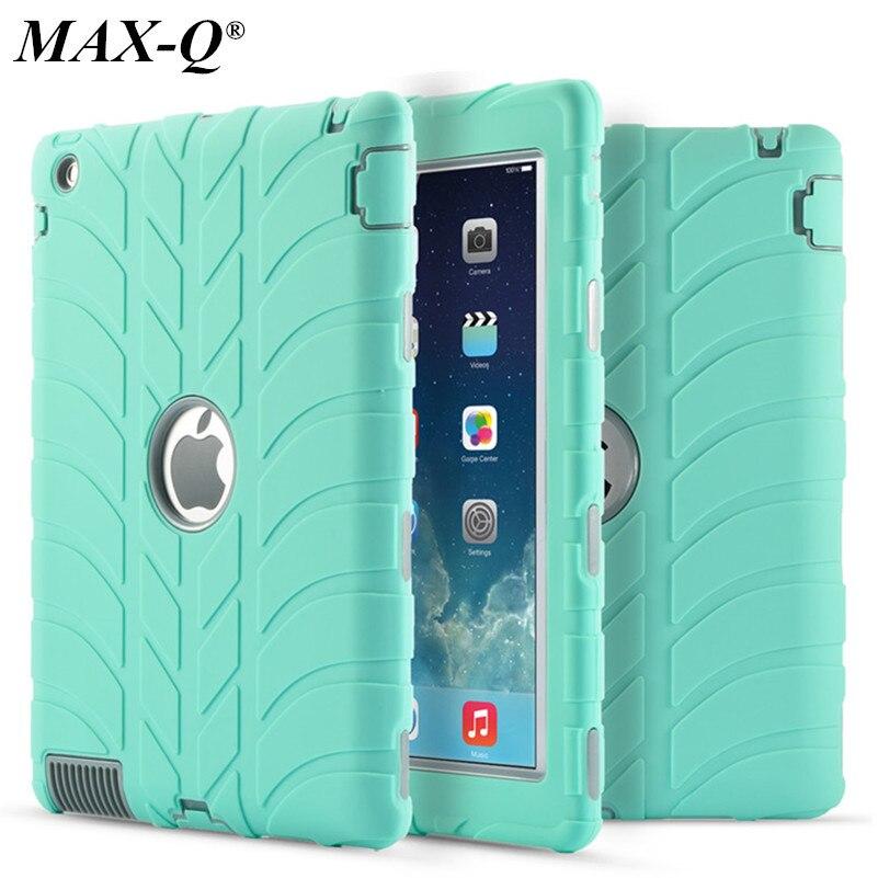 Для iPad 2 3 4 9.7 Дети Baby Safe Панцири противоударный Heavy Duty Силиконовые Покрышки жесткий чехол Экран протектор Плёнки + Стилусы ручка