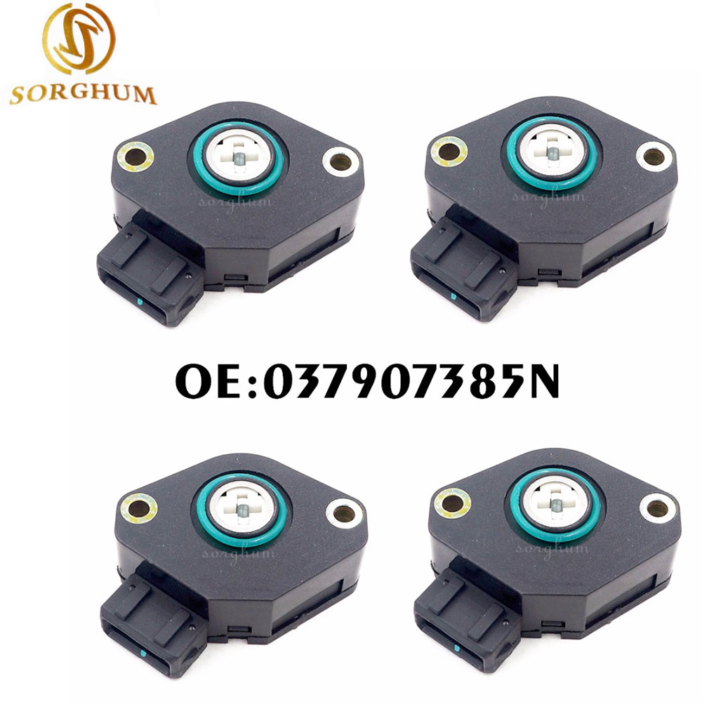 4PCS Throttle Position Sensor TPS 037907385N / 037 907 385 N For VW Golf Jetta GL GLX Passat Cabrio L4 1993 1994 1995 1996|tps|tps sensor|tps throttle position sensor - title=