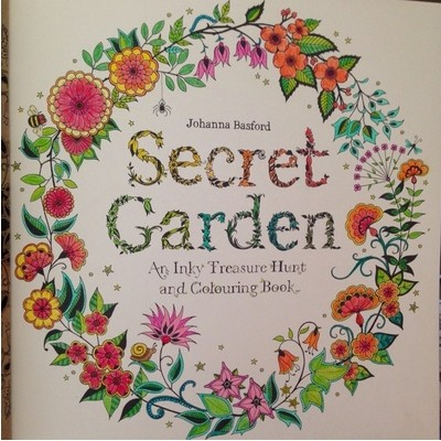 Secret Garden ENGLISH Coloring Book For Children And Adult Relieve Stress Kill Time Graffiti Painting Drawing In Photo Albums From Home On