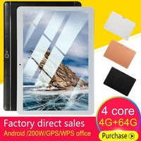 10.1 inch 4+64GB 3G call tablet MTK6582 quad core Tablet PC IPS touch Large screen display Tablet PC