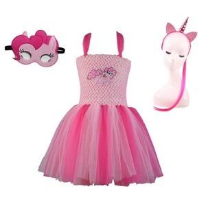 Image 3 - Robe Tutu pour filles, 3 pièces, déguisement poney classique pour fête danniversaire, Halloween, pour petite fille en bas âge