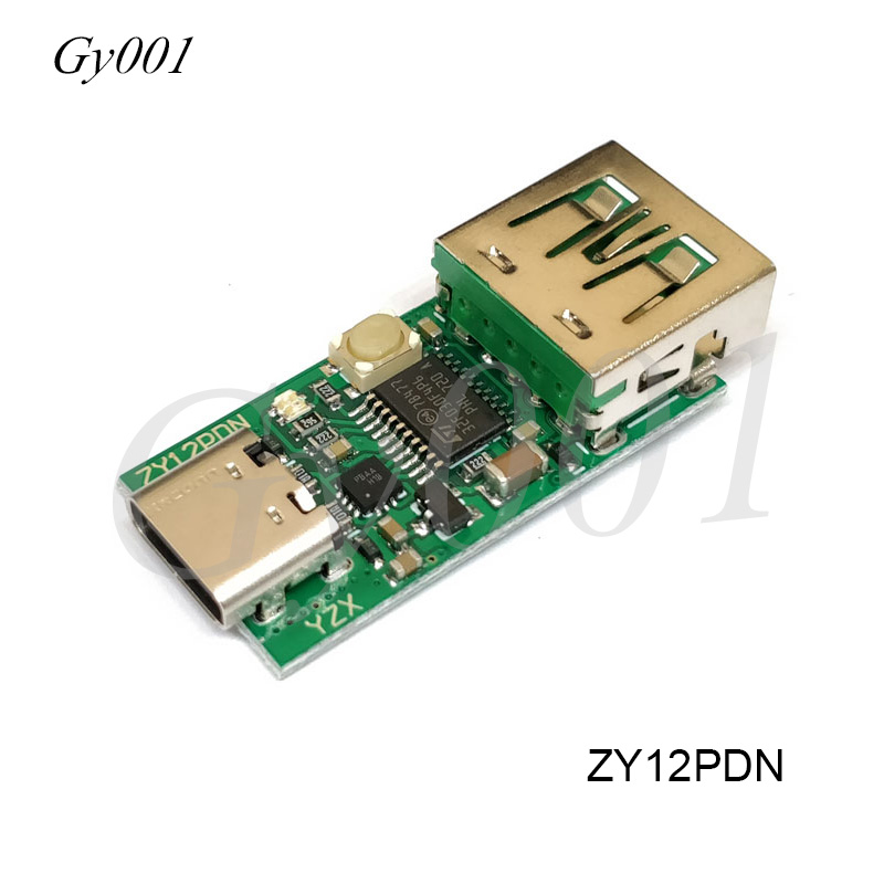 ZY12PDS Type-C PD To DC USB SurfacePro Decoy Fast Charge Trigger Polling Device