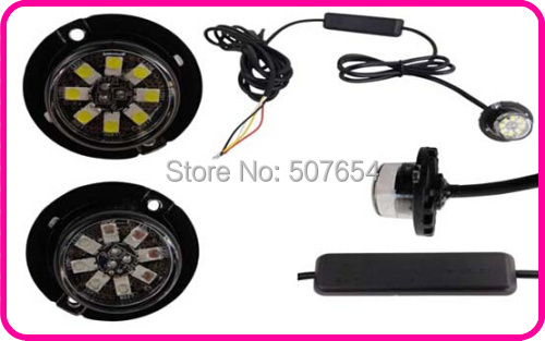 Higher star DC10-30V 8W car Led Hideaway warning Lights,grill emergency lamp,sidelights,flashing light, waterproof