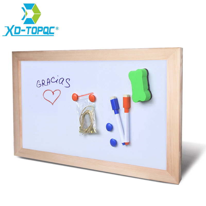 Free shipping Wholesale Magnetic Whiteboard Wood Frame Dry Wipe Board Office & School Supplier 20*30cm Factory Direct Sell dry wipe magnetic 20 30cm whiteboard imitation aluminium plastic frame double sided white memo board wood easel free gift pw01