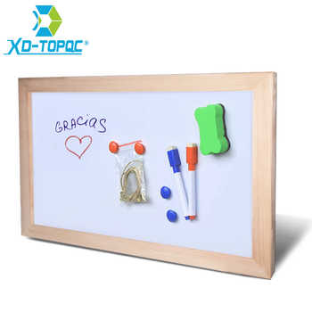 Free shipping Wholesale Magnetic Whiteboard Wood Frame Dry Wipe Board Office & School Supplier 20*30cm Factory Direct Sell - DISCOUNT ITEM  29% OFF All Category