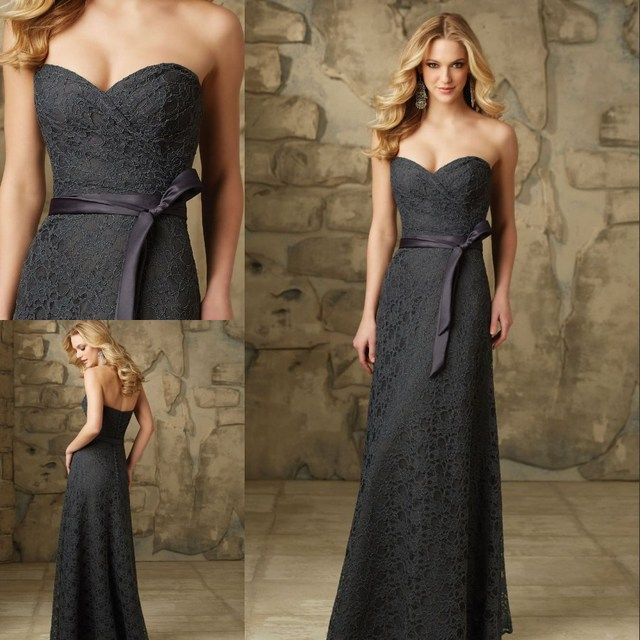 Custom Made Lace Exquisite Evening Dresses Sweetheart Floor Length ...