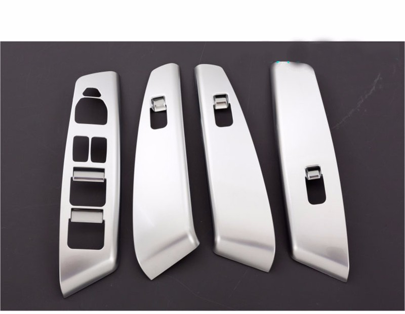 High Quality Car Styling Stainless Steel Car Door Window Switch Panel Cover Sticker Decoration For Hyundai