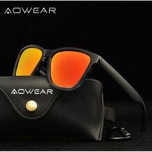 d4467dd86d AOWEAR 2018 Square Sunglasses Women Polarized Transparent Clear Frame  Polaroid Mirror