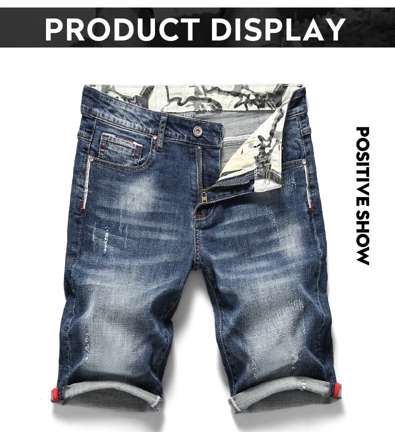 KSTUN 2020 Summer New Men's Stretch Short Jeans Fashion Casual Slim Fit High Quality Elastic Denim Shorts Male Brand Clothes 11