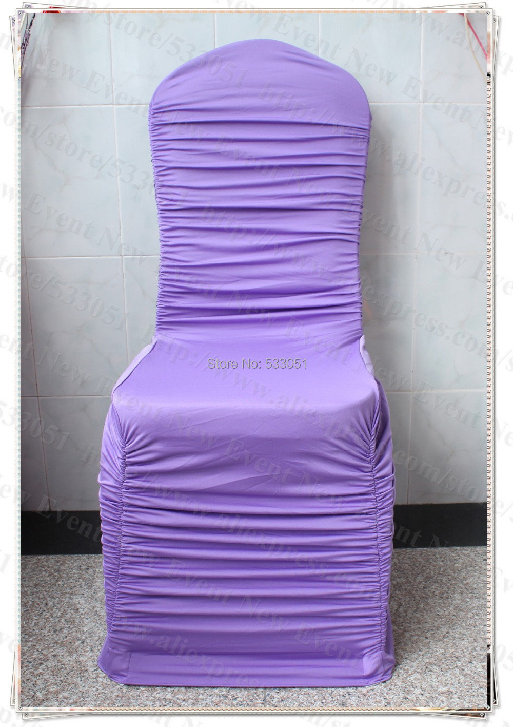 Awe Inspiring Hot Sale Lavender Color Ruffled Spandex Chair Cover Ruffle Gmtry Best Dining Table And Chair Ideas Images Gmtryco