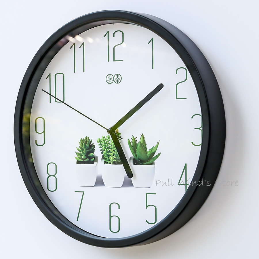 office clock wall. Brief Small Fresh Home Wall Clock Green Plant Logo Creative Office Clock-in Clocks From \u0026 Garden On Aliexpress.com | Alibaba Group