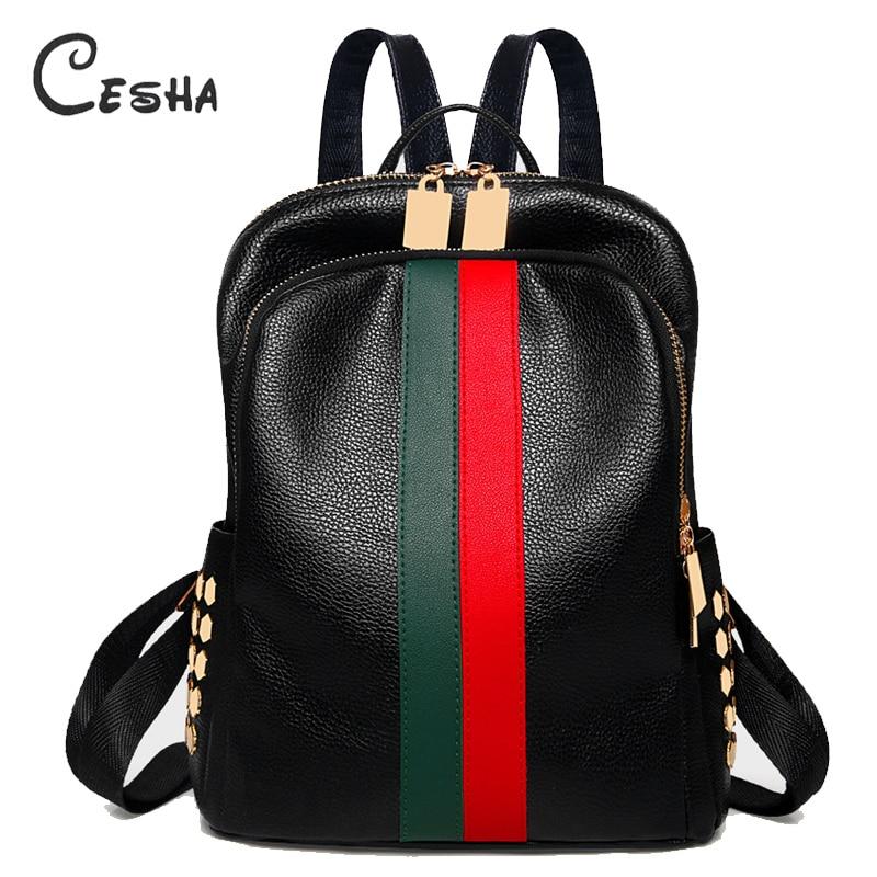 Luxury Famous Brand Designer Women PU Leather Backpack Female Casual Shoulders Bag Teenager School Bag Fashion Women's Bags
